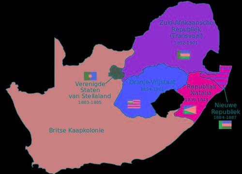 Boer Republics in South Africa, end 19th century
